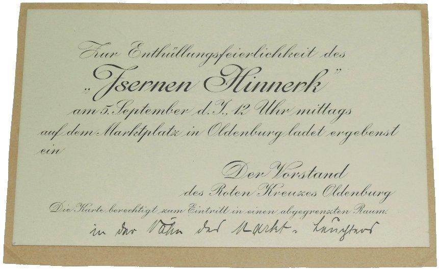 Einladungskarte Isern Hinnerk